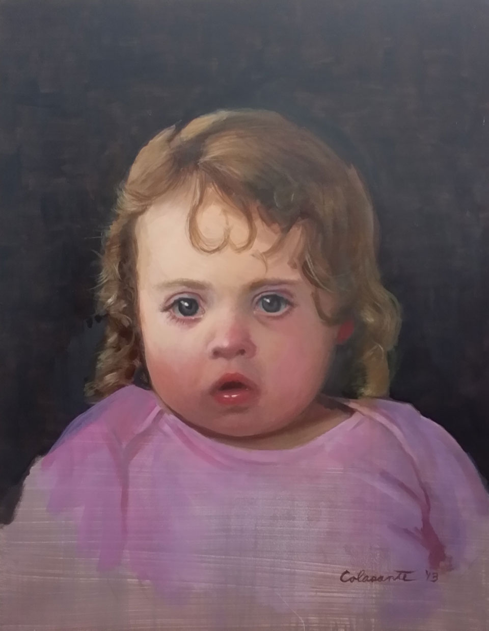 The artist's daughter at 2